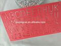 2015 nova venda direta da fábrica OEM plástico de alta qualidade carta Stencil papel governante governante
