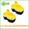 18V 1.3Ah replacement battery for dewalt DE9098 DE9503 power tool battery