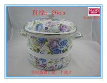 nonstick steamer pot, ceramic enamel steel steamer pot 24/26cm