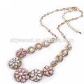 Chunky résine perles collier, Gros perles en bois rosaire collier