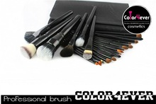Top quality 22pcs exquisite professional leather pouch makeup brushes disposable brush