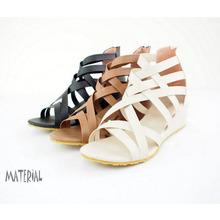 Rome zipper wedge sandals