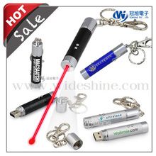 Keychain usb flash drive rechargeable laser pointer pen , new quality gadget products for wholesale alibaba