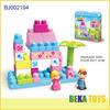 Happy kids big blocks funny 3d plastic building blocks toy