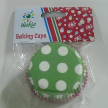 header card with opp bag packing supermarket paper cake cups