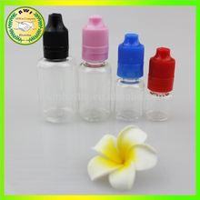 ISO8317 plastic eye dropper bottles 15ml safety cap no leak