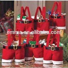 red cute candy bags Santa suspenders shorts pants christmas xmas gifts LG027