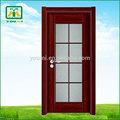 Melhor preço de atacado de madeira residencial porta de vidro para banheiro ym-p003