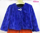 Mink fur coat/hot selling women mink fur coat/blue mink fur coat