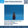 100ml şeffaf kahverengi ilaç ölçekli şişe sıvı