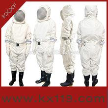 2014 novo produto branco profissional venda quente apicultura vestuário de protecção