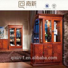 modern wooden living room display cabinet
