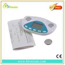 mini alarm promotional body fat analysis portable digital body fat analyzer