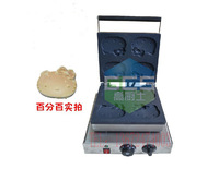 free shipping 110v 220v electric kitty cat shape waffle khaki muffin cake machine