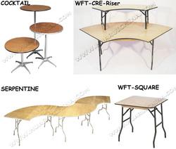 mahogany folding table / metal leg tables folding / metal wood top bar table