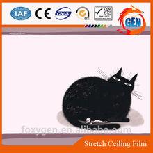 Cartoons recycled Printed stretch ceiling film 2.35 meters to 3.2 meters width for kid's bedroom