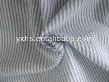 100% cotton blue white stripe seersucker woven fabric