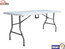 6ft folding cafeteria easy to clean plastic table for cafeteria, canteen, restaurant