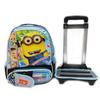 Cartoon pattern kids bag with wheels school trolley bags