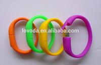 Colorful copy data free cheap promotional silicone bracelet usb flash drive/usb flash memory/usb silicone wristband LFN-217