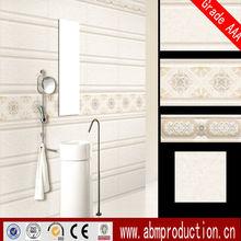 New designs white ceramic bathroom wall tile grade A