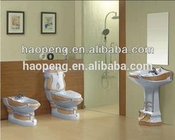 decorated toilet pedestal wash basin bidet