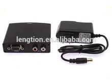 VGA RCA Audio to HDMI HD HDTV Video Converter Box 1080P VGA in HDMI Out