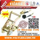 [EZ LOAD] Metal Steel Ratchet Buckle & Webbing Straps with Buckles
