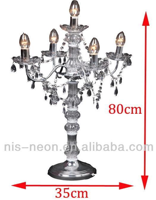 lampadario moderno candelabro nero : Moderno lampadario di cristallo candelabro lampada da tavolo per il ...