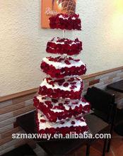 Clear hot sale cake display wedding acrylic birthday cake display stand