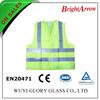 100% polyester EN 20471 reflective safety lime work vest