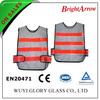 100% polyester EN 20471 reflective safety white work vest