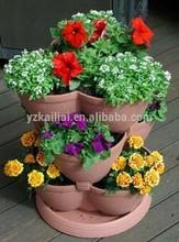 European Strawberry Stackable Vertical Gardening Tower Pots For Balcony And Garden