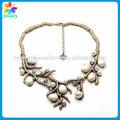 Oro con cadena larga collar de perlas rama de un árbol de perlas señora de la muchacha de la perla collar de venta al por mayor