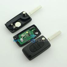 Folding remote key 3button 434Mhz work on Peugeot 307 HU83 407 remote key