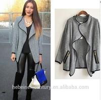 2015 Women Jacket Knitting Loose Fit Cardigan Leisure Show Thin Blouse Coat
