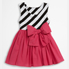 colorful fahsion little girl big bow dress baby girl party dresses