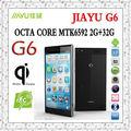 Telefono originale jiayu g6 mtk6592 octa core telefoni cellulari 2g 32g 5,7 pollici FHD 1920* 1080p IPS 5mp+13.0mp NFC OTG Android 4.2 gps