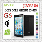 Original Phone Jiayu G6 MTK6592 Octa Core cell phones 2G 32G 5.7inch FHD 1920*1080P IPS 5MP+13.0MP NFC OTG GPS Android 4.2