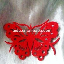 laser cut felt butterfly wall decoration