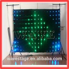 HOT WLK-1P9 Black fireproof Velvet cloth RGB 3 in 1 leds vision backdrop color changing led stage curtain lights