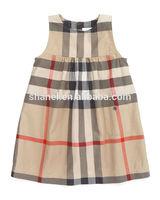 little girl fashion dress plaid short dresses for girls