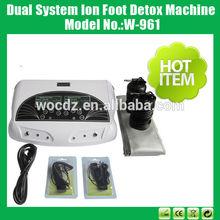 2014 sıcak satış çift sistemi infrared kemer iyon ayak detoks makinesi