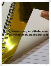 SBS,Art Board,C1S C2S backing golden colored aluminum foil paper,papier hologramme