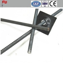 underground black concrete PSB thread screw steel bars / rebar with accessories