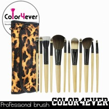 Wholesale top sell natrual hair 12pcs makeup brush makeup foam brushes