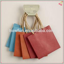 Top sale brown kraft paper gift bags
