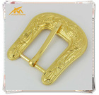 Gold new arrival decorative western belt buckles garment accessories