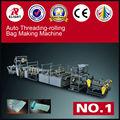 Rolling trash plastic film bag making machine,Automatic Rolling HDPE,LDPE Garbage Bag Making Machine for sale