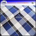 xadrez tartan tecido de algodão para a camisa dos homens